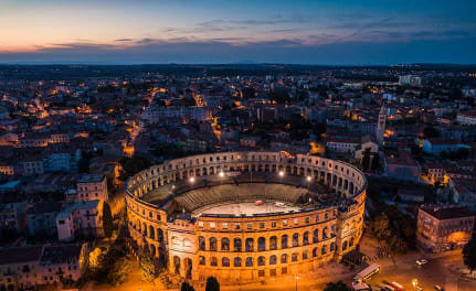 city of Pula in Croatia