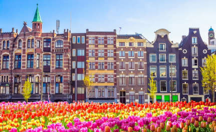 city of Amsterdam in The Netherlands