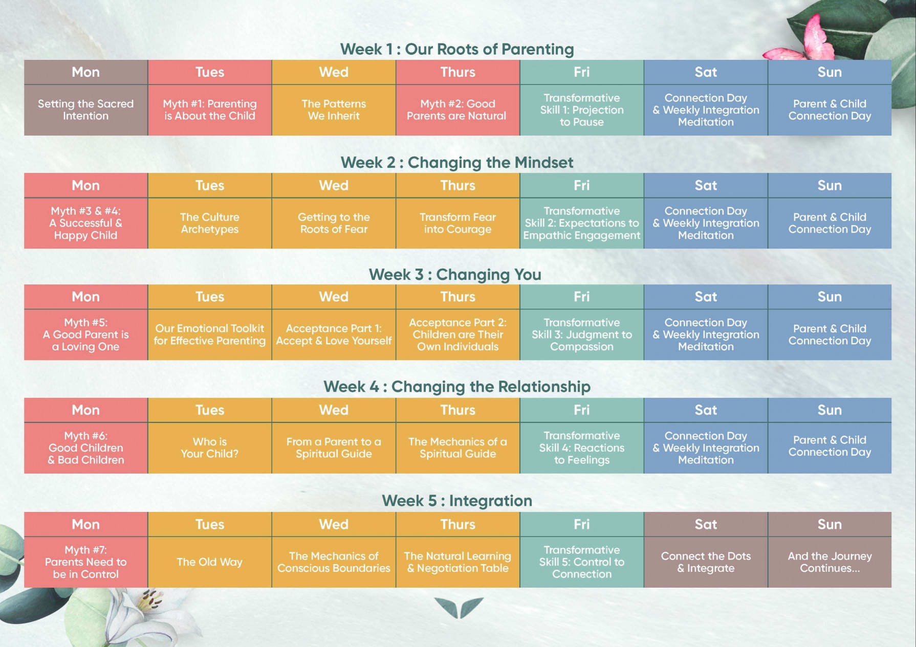 Program Curriculum Conscious Parenting