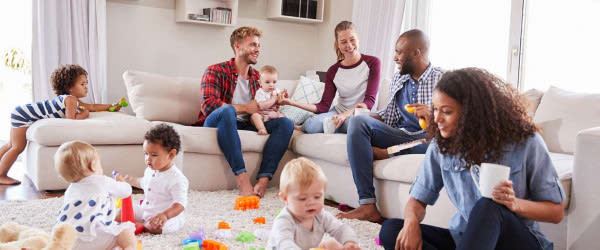 Multiratial families enjoy some quality time together at home